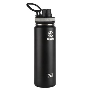Takeya 50041 Black Hiking Water Bottle