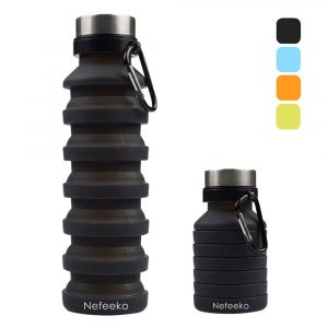 Nefeeko Collapsible BPA-Free Silicone Water Bottle