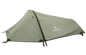 Green lightweight tunnel tent