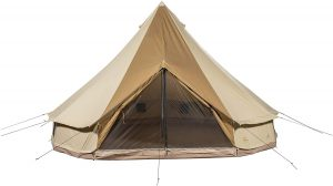 TETON Sports Sierra Canvas yurt style tent set up and ready for all seasons