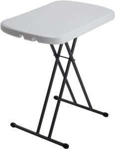 Small Personal Folding Table with a white top