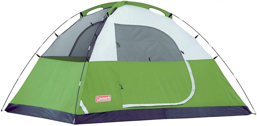 Coleman Green and Gray Sundome tent