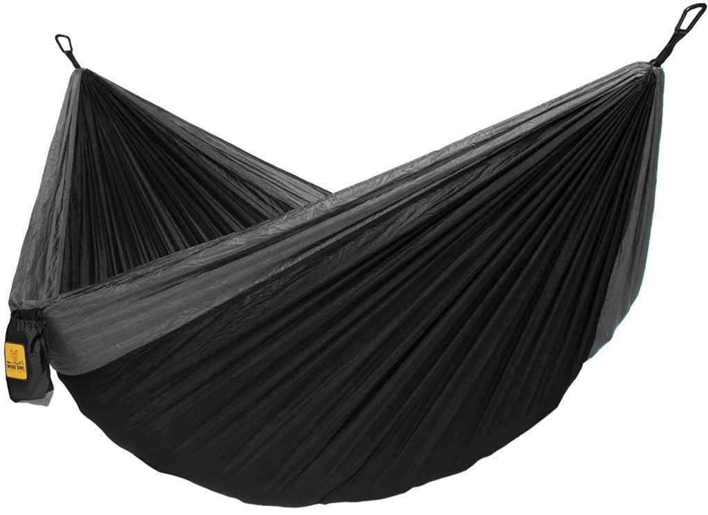 Black hammock for outdoor camping