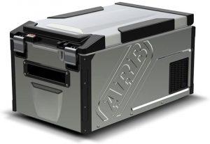 ARB 10810602 Portable Fridge/Freezer with metal casing and black corners