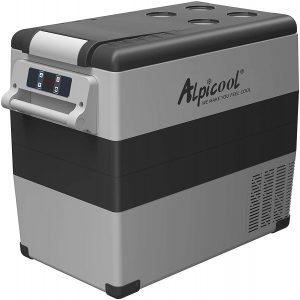 Alpicool CF55 Portable Refrigerator 12 Volt Car Freezer gray and black